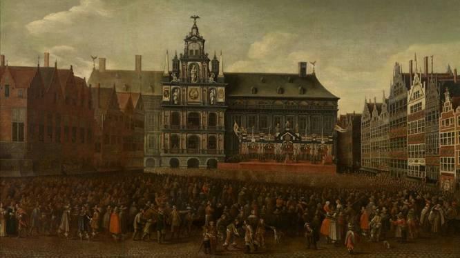"""Anonieme mecenas betaalt restauratie Antwerps barokmeesterwerk: """"Afbeelding van Grote Markt is griezelig accuraat"""""""