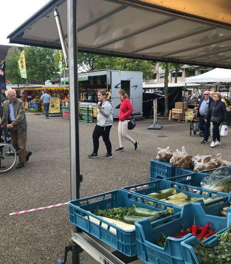 Eerste zaterdagmarkt in Winterswijk gelijk druk