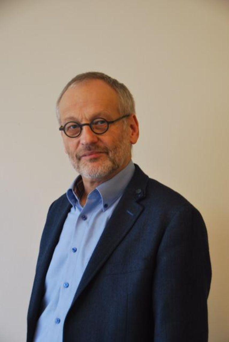 Albert Weishaupt, bestuurder van het Roelof van Echten college in Hoogeveen: 'Onderwijs op afstand blijft voorlopig de kern' Beeld RV