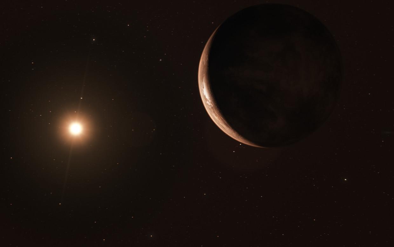 Zo zou de koude 'superaarde' Proxima c eruit kunnen zien.