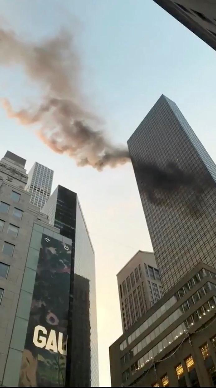 Rook uit de bovenverdieping van de Trump Tower in Manhattan, New York.