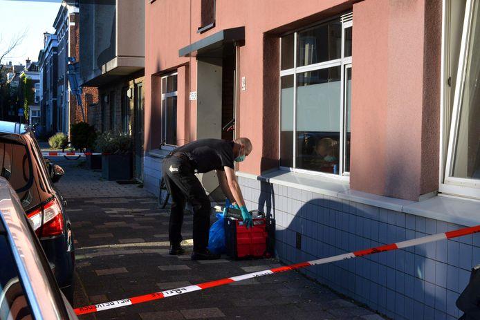 Archieffoto: Recherche doet op 20 oktober 2018 onderzoek in de woning aan de Gaslaan.
