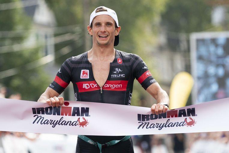 Quentin De Vos kwam als eerste over de eindmeet