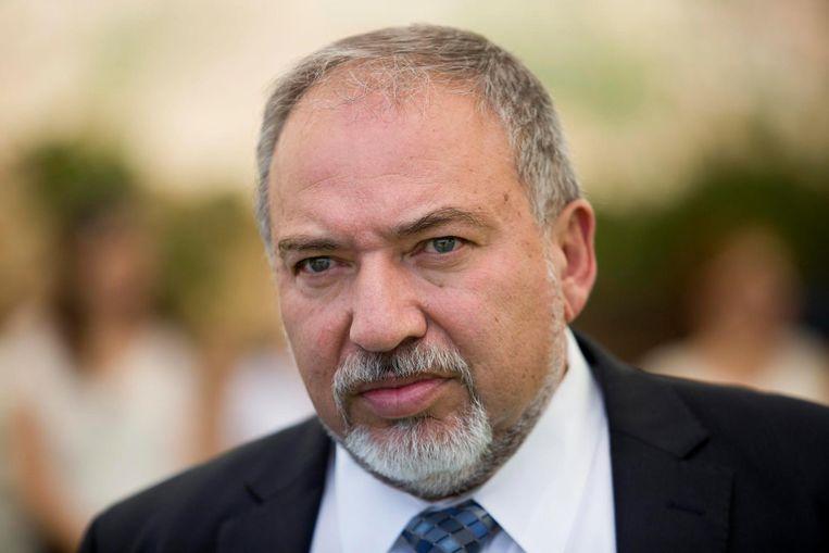 Avigdor Lieberman, de huidige Israëlische minister van Defensie. Beeld epa