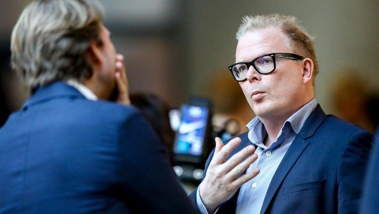 Rutger Castricum van Powned en Jan Roos van VNL Beeld anp