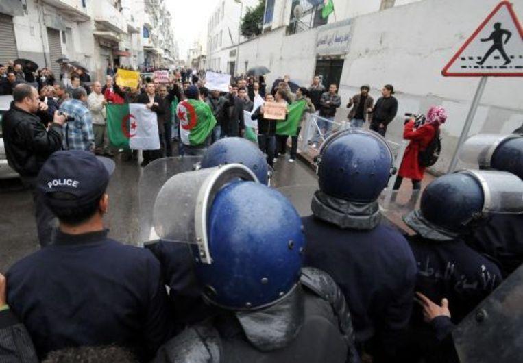 Een betoging in Algiers, een maand geleden. EPA Beeld