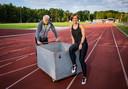 Rani Rosius en haar trainer Johan Baerts.