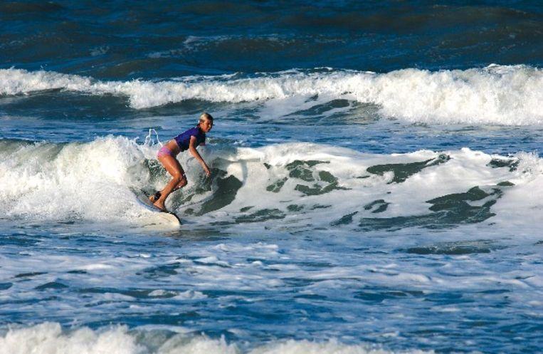 Het strand van New Smyrna is een populaire surfspot.