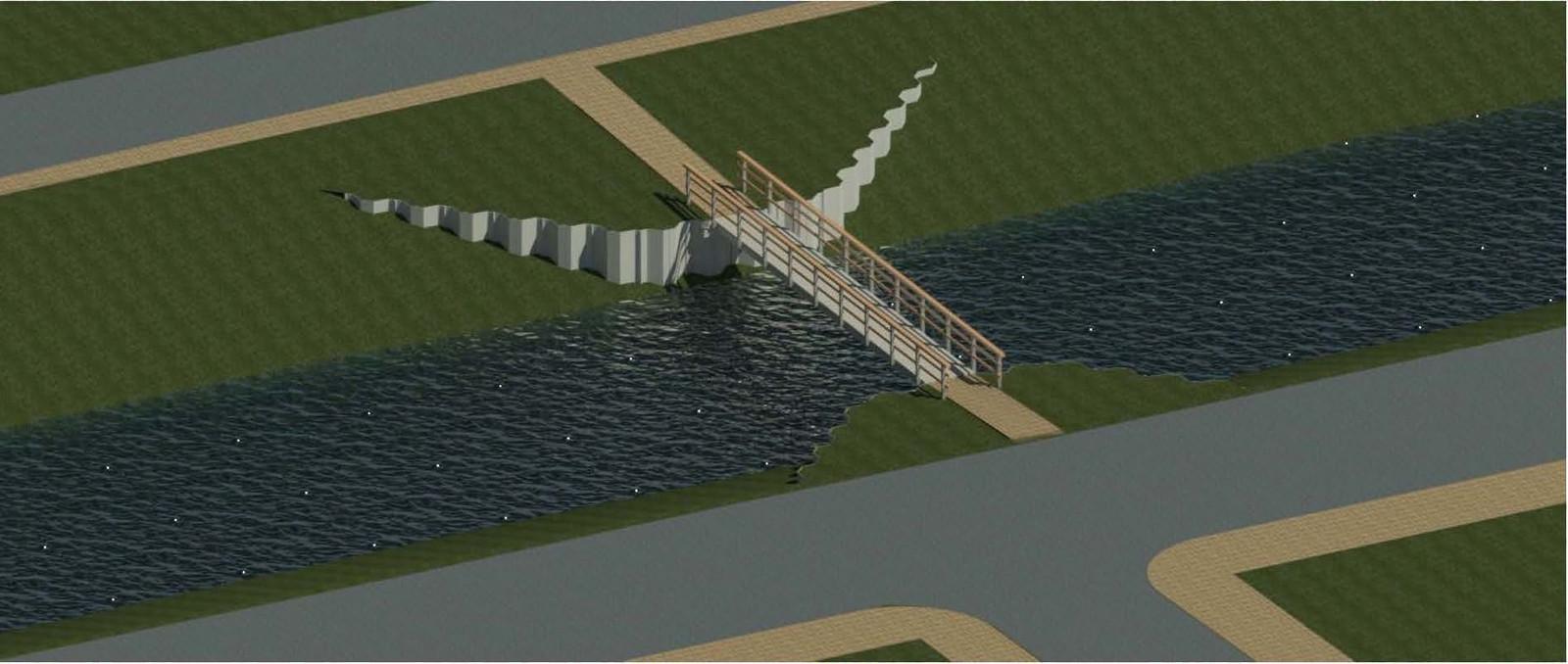Zoals het er nu naar uitziet, gaat de nieuwe loopbrug er zo uitzien.