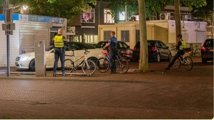 Toezicht op de situatie in het centrum van Deventer. Deze foto is van een controle enige tijd terug.