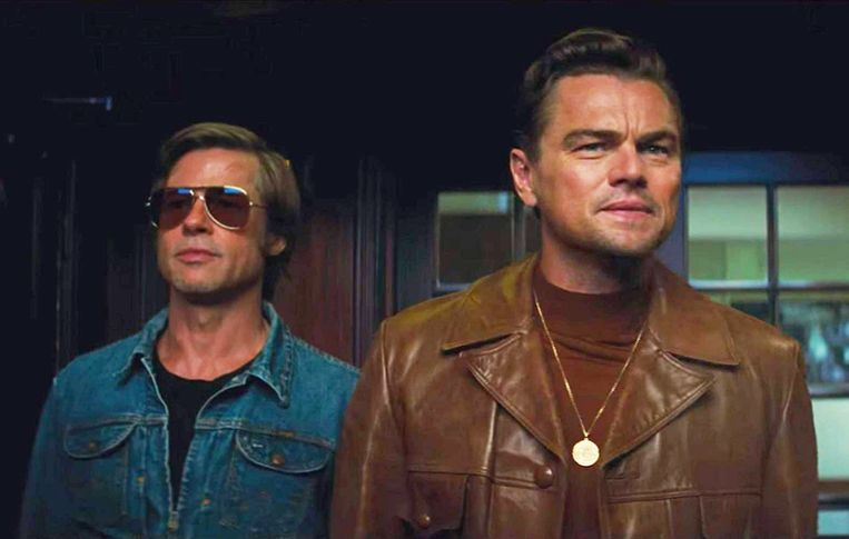 Brad Pitt en Leonardo DiCaprio in 'Once Upon a Time in Hollywood'.