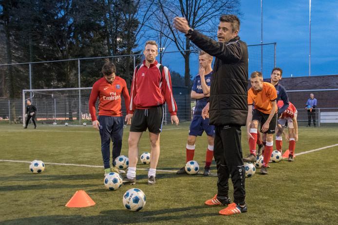 Donny de Groot in zijn tijd als trainer van Beerse Boys.