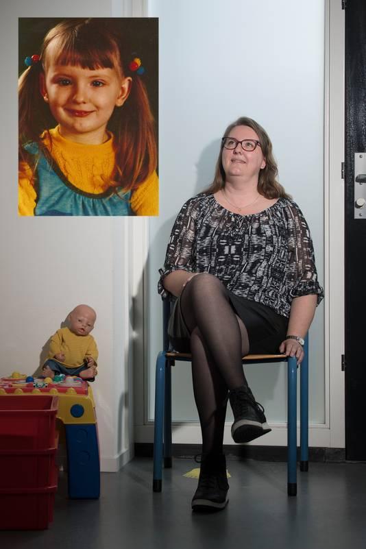 Jolanda de Zeeuw nu en als 4-jarige.