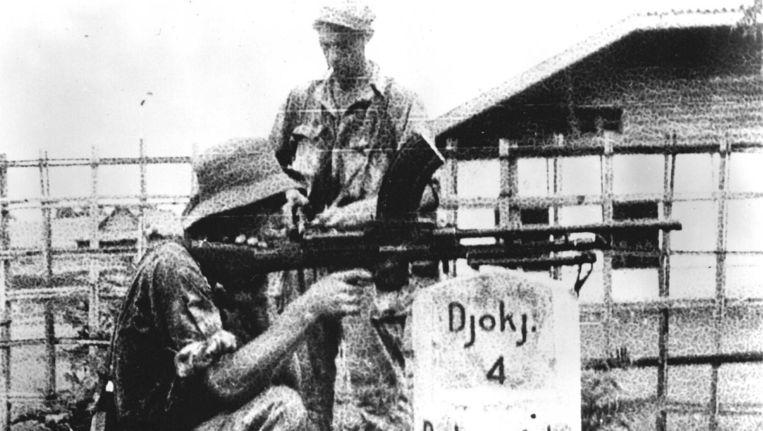 Nederlandse troepen op weg naar Soekarno. Archieffoto van 15 december 1948. Beeld anp