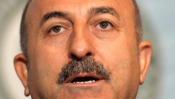 Mevlut Cavusoglu, de Turkse minister van Buitenlandse Zaken.