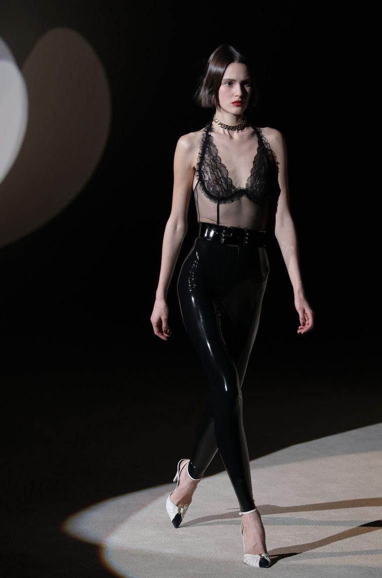 Modeshow Saint Laurent, Parijs.