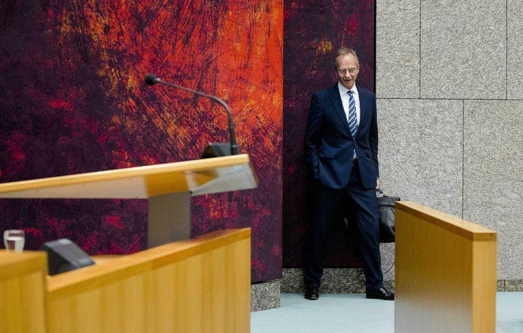 Minister Henk Kamp: 'Het lijkt me onwaarschijnlijk dat we de doelen van het energieakkoord niet halen.' Beeld anp
