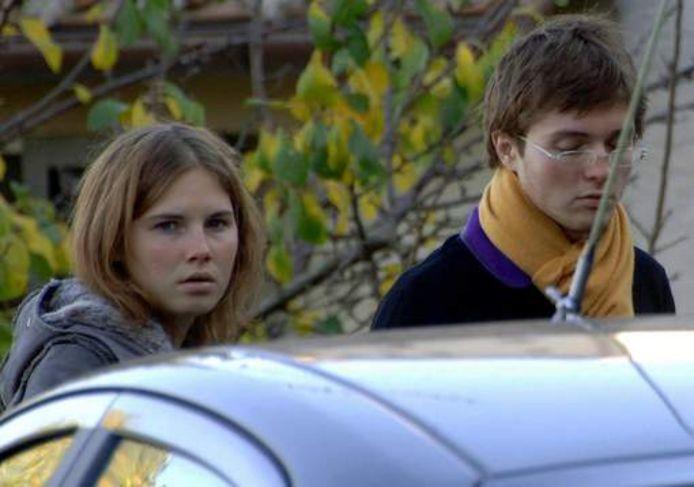 Amanda Knox en haar Italiaanse vriend Raffaele Sollecito.