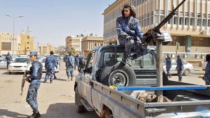 Foto van troepen onder leiding van commandant Haftar in de stad Sebha, 6 februari 2019.