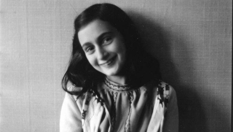 Foto van Anne Frank uit 1941, van het Anne Frank Fonds in Frankfurt. © EPA Beeld