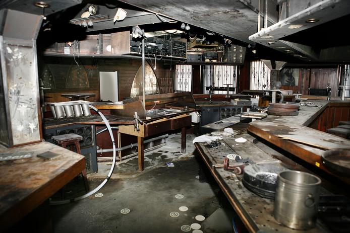 Nederland, Volendam,19-12-2008. Interieur van cafe De Hemel. Het cafe brandde af in de Nieuwjaarsnacht van 2000 op 2001. <br /> .Foto Maarten Hartman