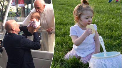 Gianna (3) was stervende toen paus haar in 2015 kuste tijdens bezoek aan VS. Haar kansen keerden