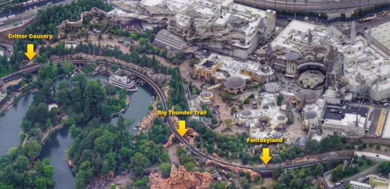 Een plan van het park.