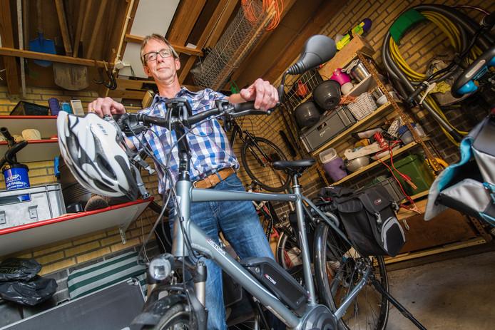 Henk Zegers heeft de snelle fiets met ondersteuning inmiddels verkocht.