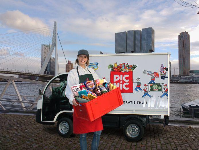 Online supermarkt Picnic snelt in de richting van 40 gemeenten voor de bezorging van boodschappen. De verovering van Rotterdam startte eind november vorig jaar, Nijmegen volgde in maart. Nu is ook ook Arnhem aan de beurt.