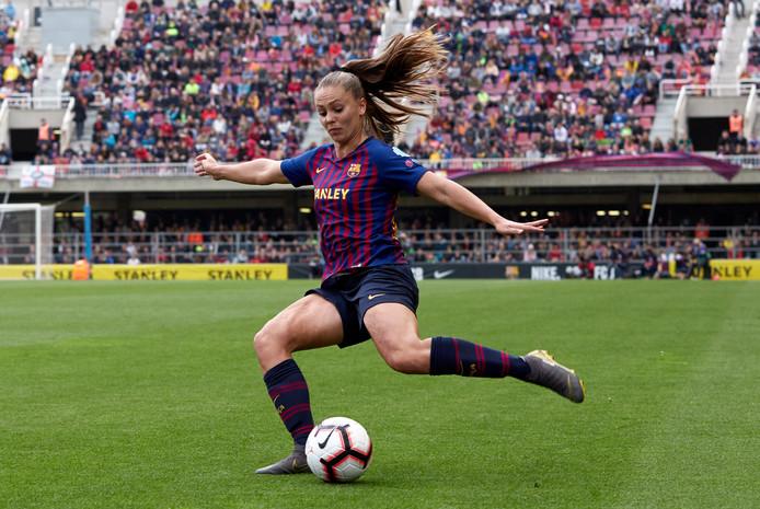 In het nieuwe Estadi Johan Cruyff speelt Lieke Martens straks met de Barcelona-vrouwen.