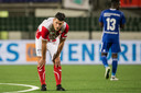 FC Oss-speler Thijs van Pol na de verloren bekerwedstrijd tegen Almere City.