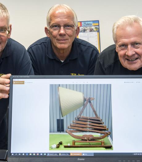 Bijzondere 'schaarlamp' vanuit Bohero terug naar nazaten ontwerper