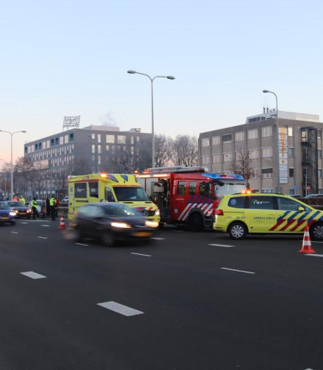 Botsing Ceintuurbaan Zwolle leidt tot verkeersdrukte richting N35