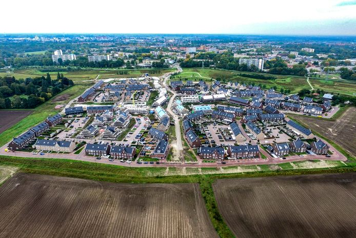 Een nieuwbouwwijk in Deventer.