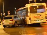 Auto ramt stadsbus in Breda