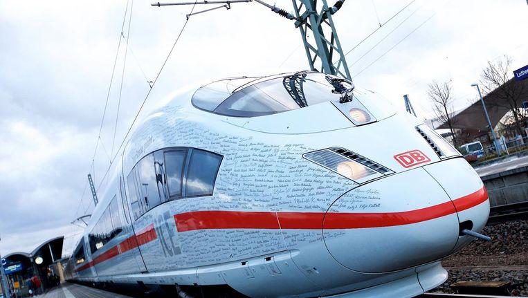 Het vooruitzicht dat mogelijk een Anne Frank-trein door Duitsland zou rijden, leidde tot veel kritiek. Beeld epa