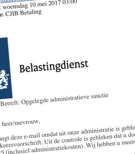 Belastingdienst waarschuwt voor nieuwe serie valse e-mails