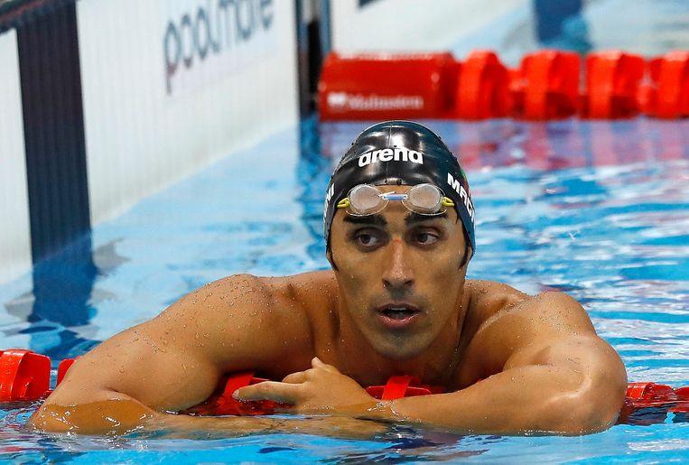 De Italiaanse olympisch zwemmer Filippo Magnini.