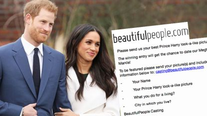 Bizar: datingsite wil lookalikes prins Harry en Meghan Markle koppelen