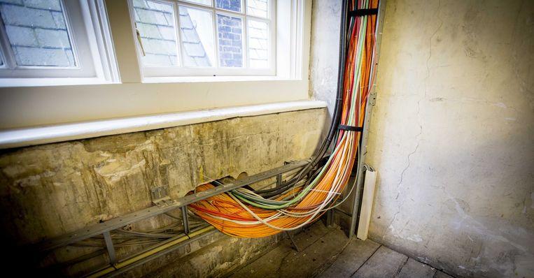 Achterstallig onderhoud bij het Binnenhof-complex. Beeld ANP