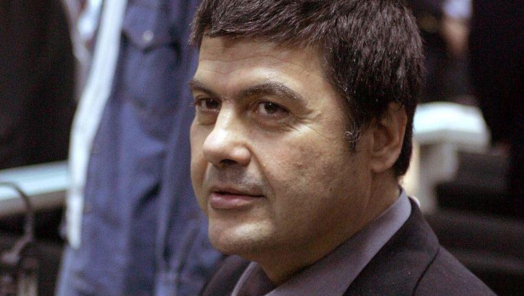 Christodoulos Xiros, in december 2005 in de rechtbank in Griekenland. Beeld afp