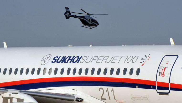Een Sukhoi Super Jet 100 (Archieffoto) Beeld afp