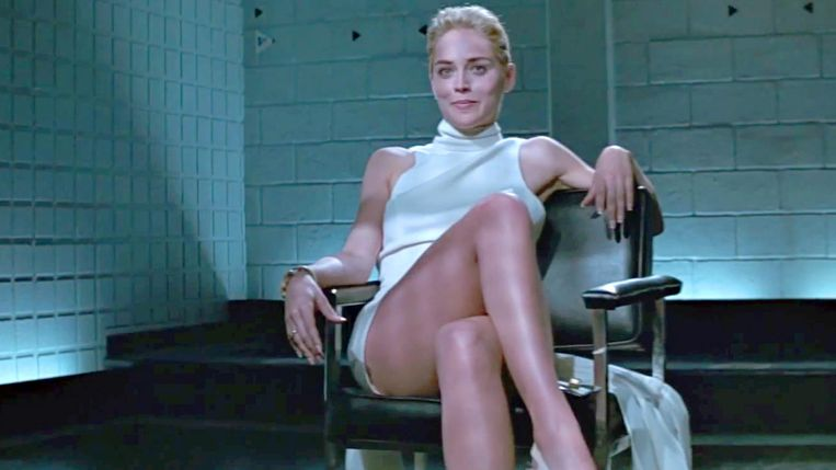 Sharon Stone in Basic Instinct (Paul Verhoeven, 1992). Beeld