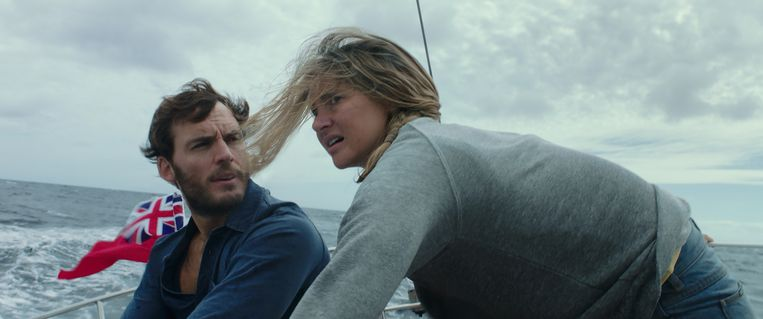 Sam Claflin en Shailene Woodley in Adrift. Beeld Courtesy of STXfilms