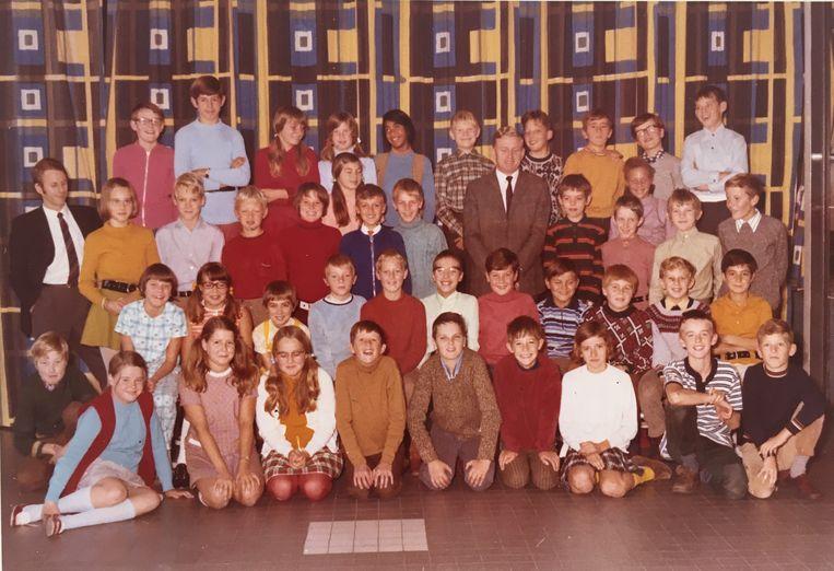 Els de Baan in haar klas 6, 1970 Beeld