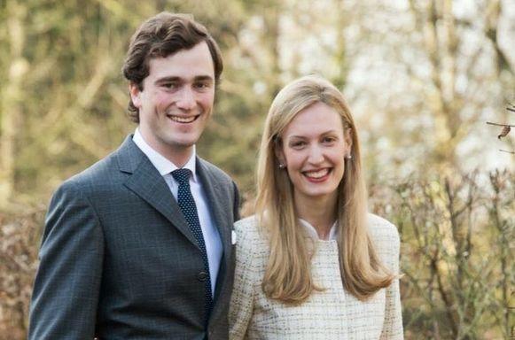 Prins Amadeo met zijn echtgenote, Elisabetta 'Lili' Rosbosch von Wolkenstein