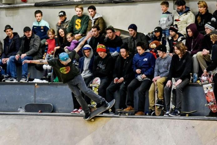 Een wedstrijd skateboarden in de Hall of Fame. Archieffoto BeeldWerkt