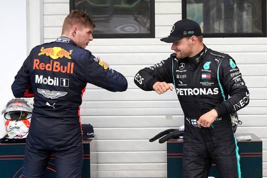 Valtteri Bottas en Max Verstappen.