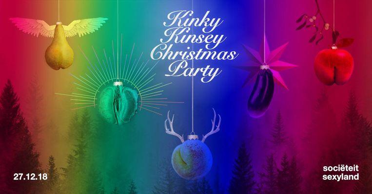 Met je cameltoe onder de mistletoe bij de Kinkey Kinsey Christmas Party Beeld Lisanne Hakkers