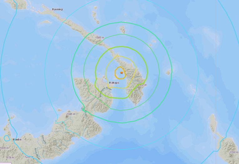 Papoea-Nieuw-Guinea opgeschrikt door een zware aardbeving.
